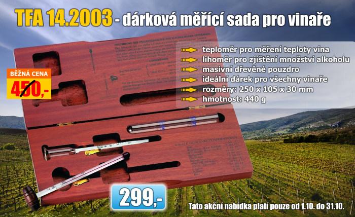 Dárková vinařská sada - lihoměr a teploměr TFA 14.2003