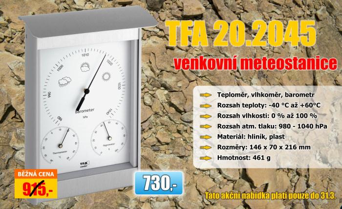 Venkovní analogová meteostanice TFA 20.2045