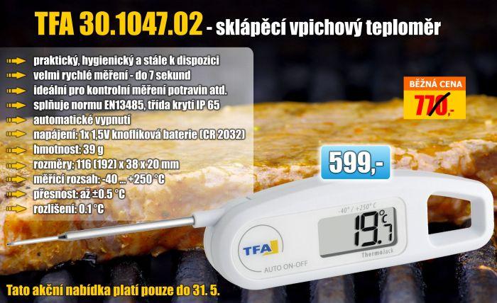 Univerzální vpichový teploměr TFA 30.1047.02