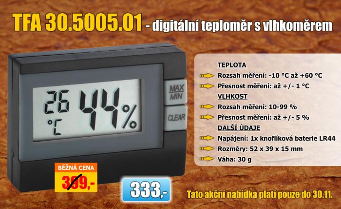 Teploměr s vlhkoměrem TFA 30.5005.01