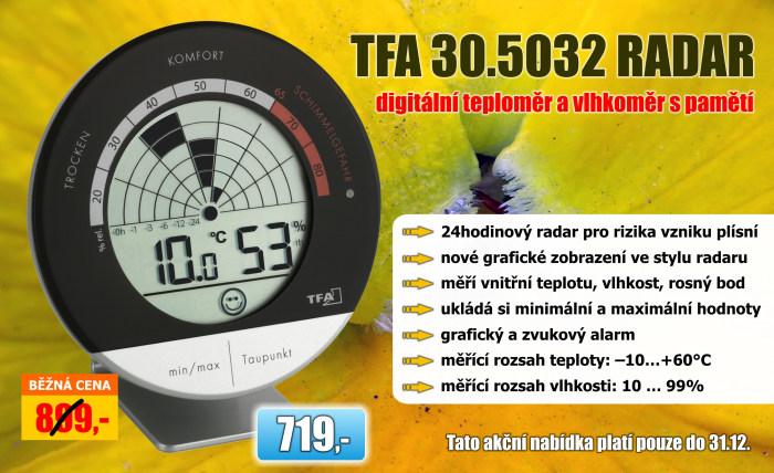 Teploměr s vlhkoměrem TFA 30.5032 RADAR
