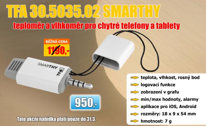 Teploměr a vlhkoměr pro mobilní telefony či tablety TFA 30.5035.02 SMARTHY