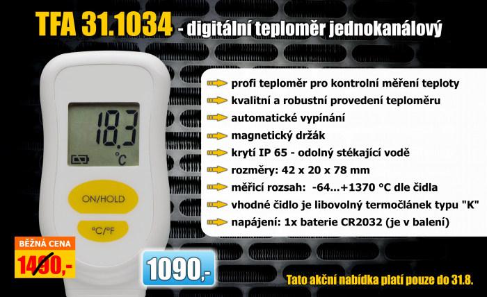 Digitální teploměr jednokanálový - TFA 31.1034