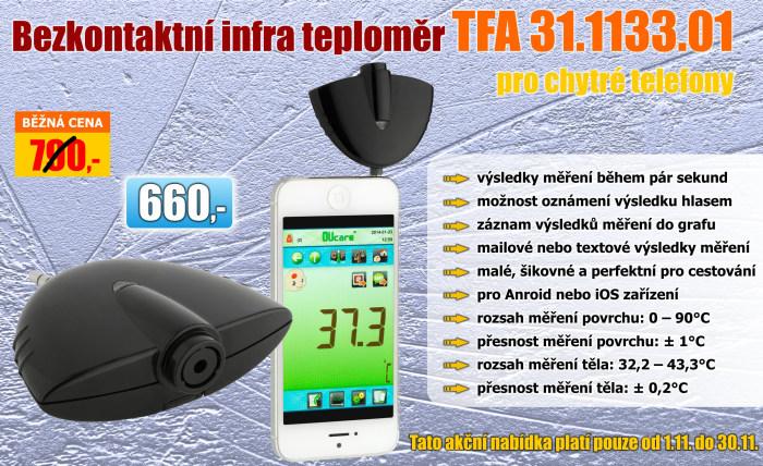 Infra – teploměr 31.1133.01 pro chytré telefony
