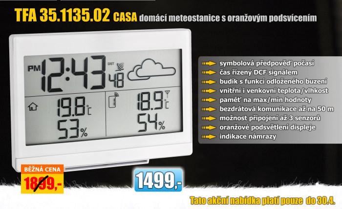 Domácí meteostanice TFA 35.1135.02 CASA bílá