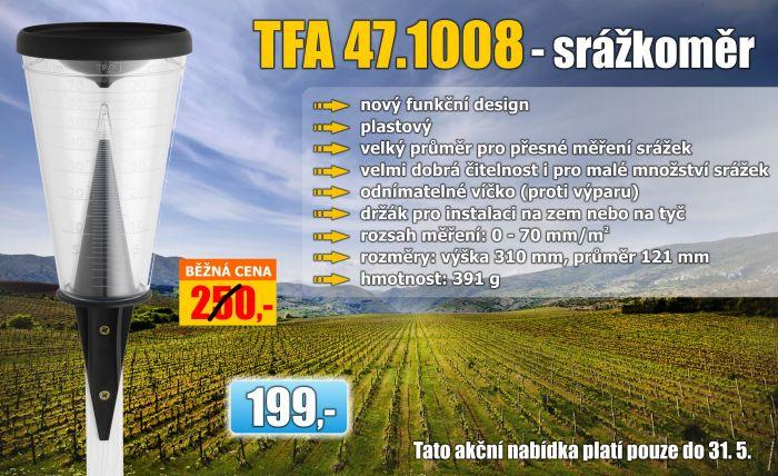 Deštový srážkoměr TFA 47.1008