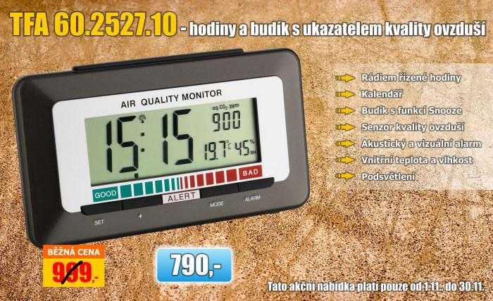 Budík s ukazatelem kvality vzduchu TFA 60.2527.10