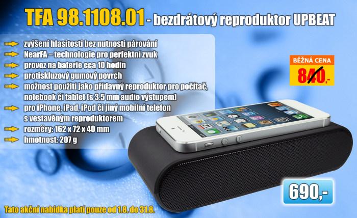 Bezdrátový reproduktor pro mobilní telefony 98.1108.01 TouchPlay UPBEAT