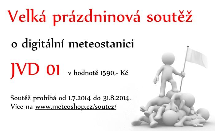 Velká prázdninová soutěž o meteostanici JVD 01 v hodnotě 1590 Kč