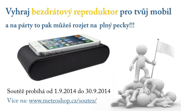Vyhraj bezdrátový reproduktor pro tvůj mobil a na párty to pak můžeš rozjet naplno!