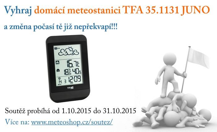 Správně odpověz na 3 soutěžní otázky a vyhraj domácí meteostanici TFA JUNO!!!