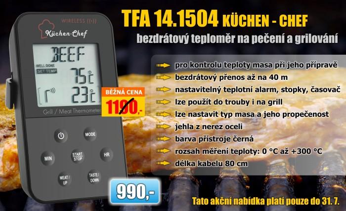 Digitální vpichový teploměr na maso TFA 14.1504 Küchen-Chef