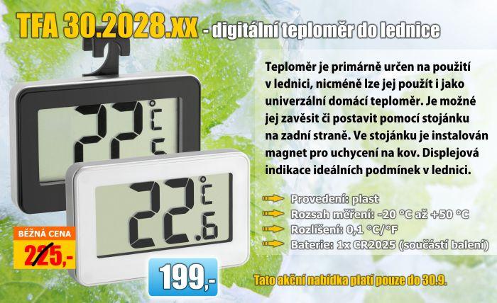 Digitální teploměr do lednice TFA 30.2028 za akční cenu