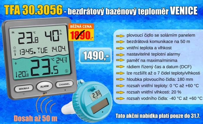 Bezdrátový bazénový teploměr TFA 30.3056.10 VENICE
