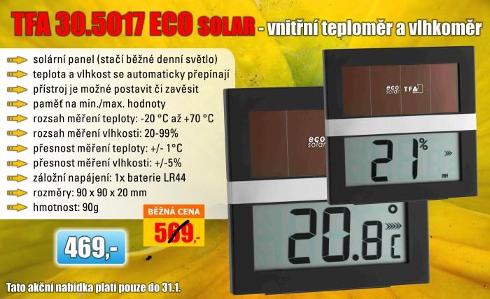 Teploměr s vlhkoměrem TFA 30.5017 ECO SOLAR