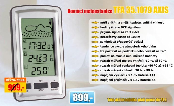 Domácí meteostanice TFA 35.1079 AXIS