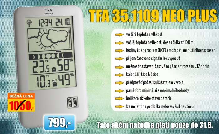Meteostanice TFA 35.1109.IT NEO PLUS