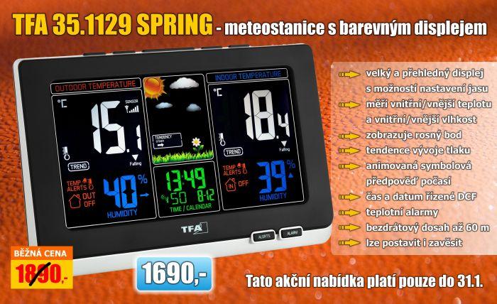 Meteostanice s barevným displejem TFA 35.1129.01 SPRING