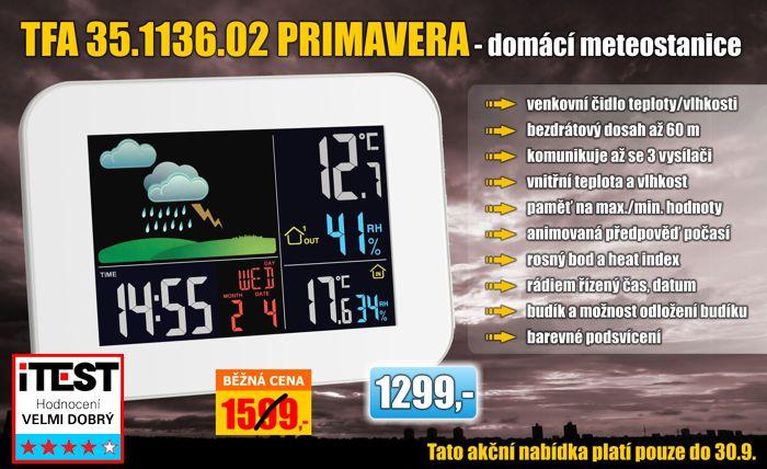 Bezdrátová meteostanice TFA 35.1136.02 Primavera