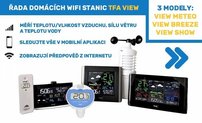 Řada domácích WIFI stanic TFA VIEW na METEOshop.cz