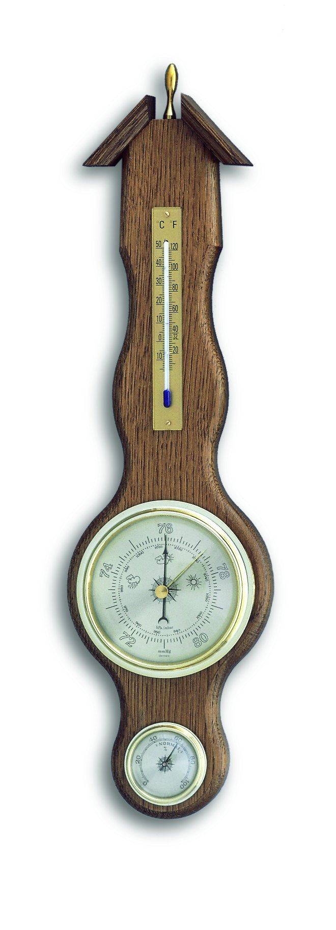 Meteostanice analogová na dřevěné podložce TFA 20.1037.01 - dub sheraton