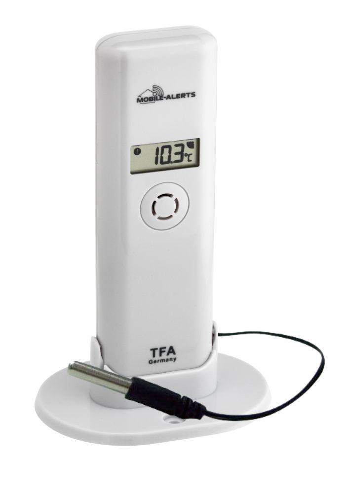 Bezdrátové čidlo teploty a vlhkosti s profi-kabelovým čidlem TFA 30.3302.02 pro WEATHERHUB