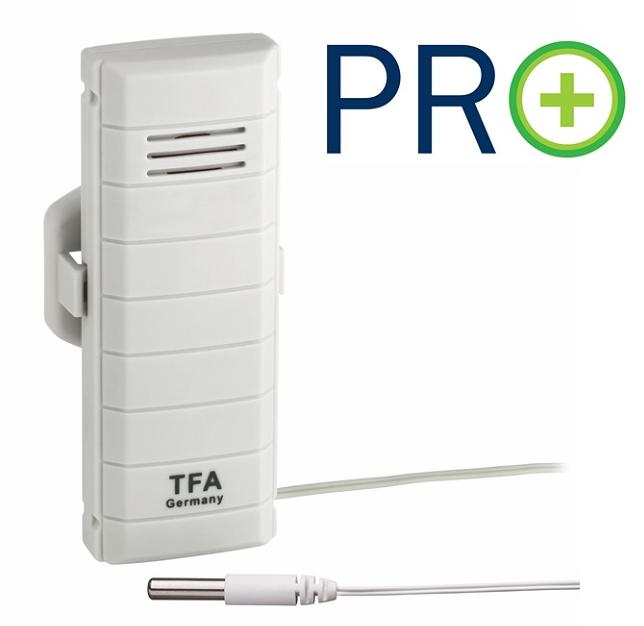 Bezdrátové čidlo teploty s kabelovým senzorem TFA 30.3308.02 pro WEATHERHUB