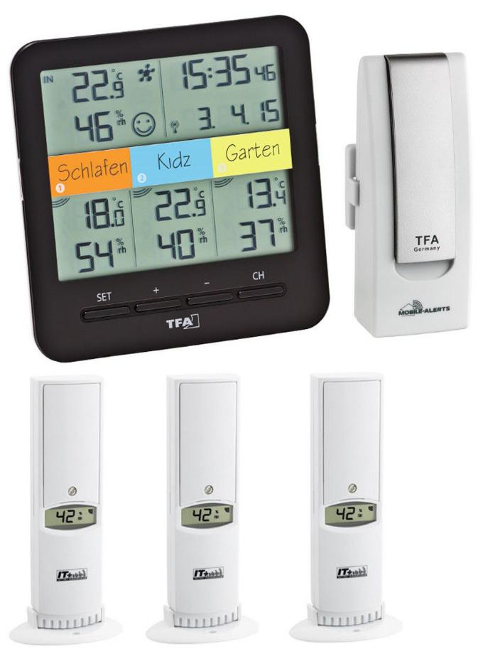 Bezdrátový monitor klimatu TFA 31.4007.02 WEATHERHUB - startovní balíček č. 7