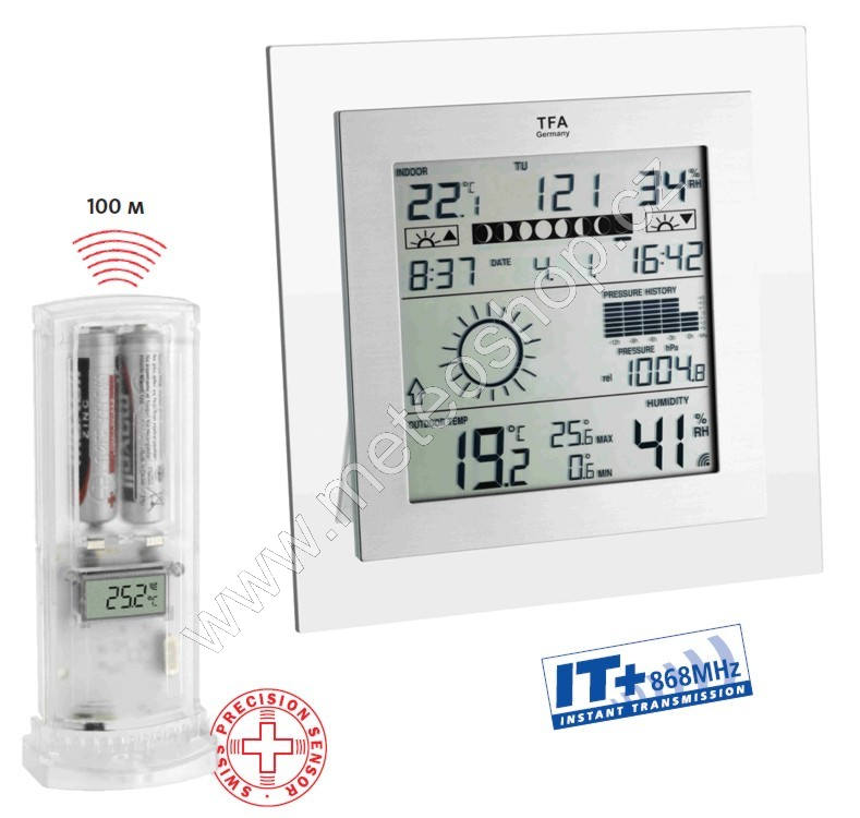 Meteostanice TFA 35.1121.IT SQUARE PLUS