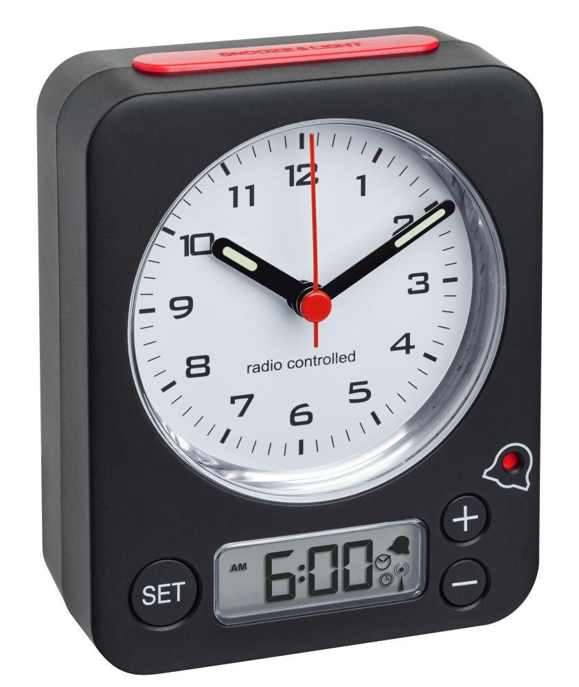 Analogový budík s rádiově řízeným časem TFA 60.1511.01.05 COMBO