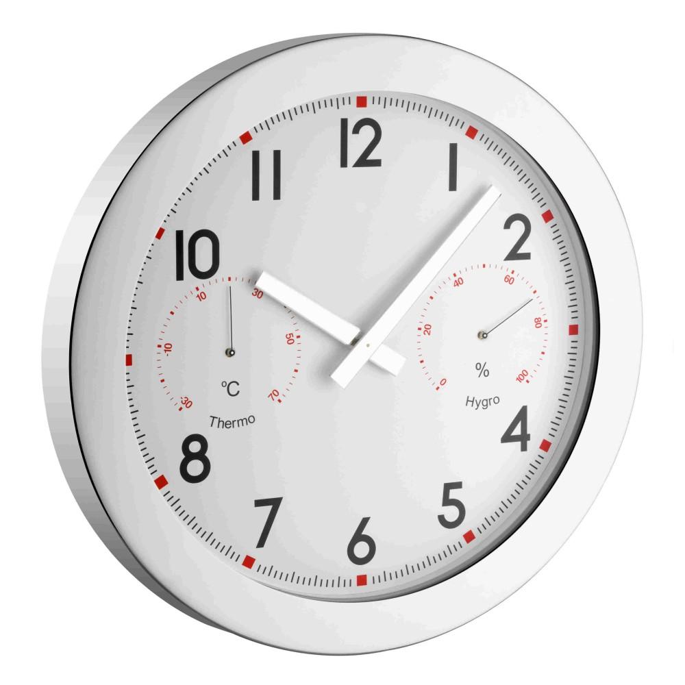 Nástěnné hodiny s teploměrem a vlhkoměrem TFA 60.3005