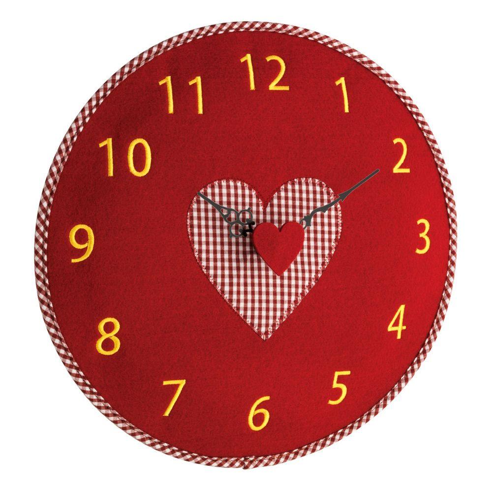 Nástěnné hodiny s motivem srdce TFA 60.3025.05