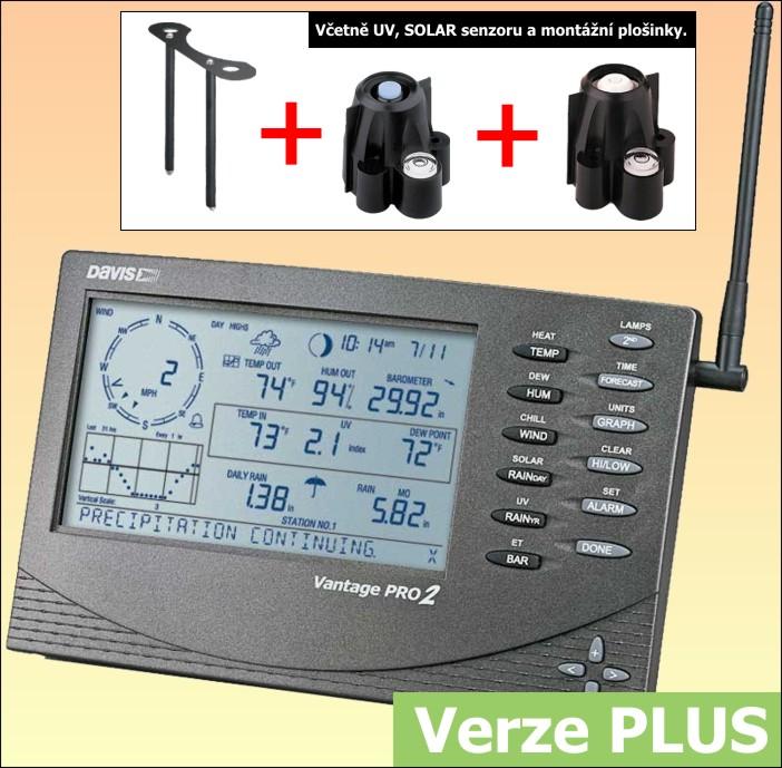 Meteostanice Davis Vantage Pro 2 - bezdrátová verze PLUS - 6162