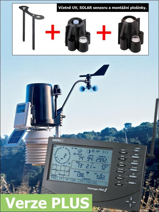 Meteostanice Davis Vantage Pro 2 - bezdrátová verze s 24 hod. aspiračním štítem PLUS - 6163