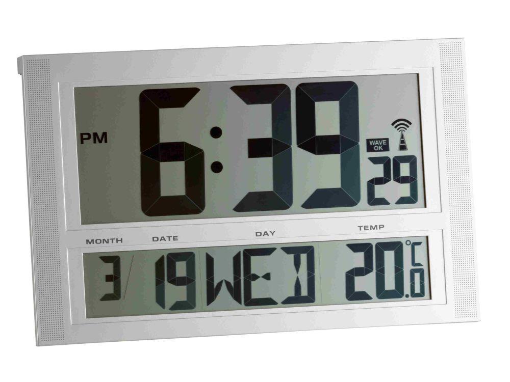 Rádiem řízené nástěnné hodiny s teploměrem TFA 98.1090