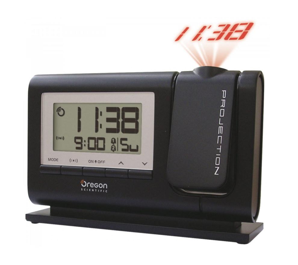 Digitální budík s projekcí a časem řízeným DCF signálem Oregon Scientific RM308PBK