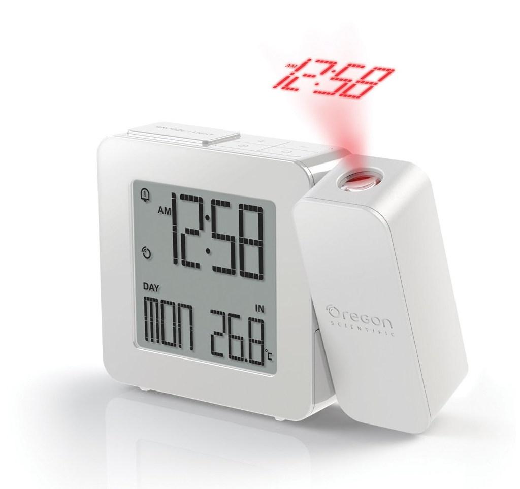 Digitální budík s projekcí času a vnitřní teploty RM338PW PROJI
