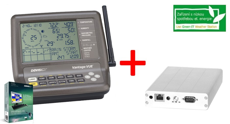 Akční balíček č. 50 - Davis Vantage Vue (6250) + WeatherLink USB + Meteoserver METEOALIX-3D2