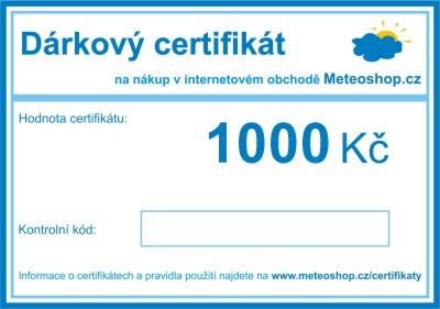 Dárkový certifikát 1000 Kč