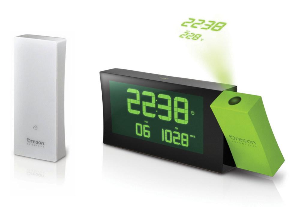 Digitální budík, projekcí a FM radiopřijímačem RRM222P PRYSMA