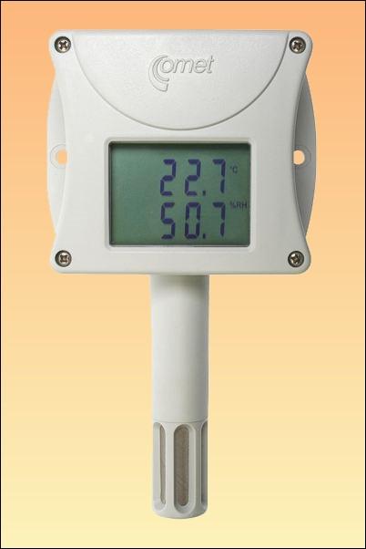 Prostorový teploměr, vlhkoměr s displejem a připojením na ethernet T3510 + kalibrační list