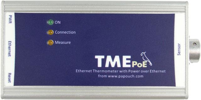 TME PoE - Ethernetový teploměr s PoE