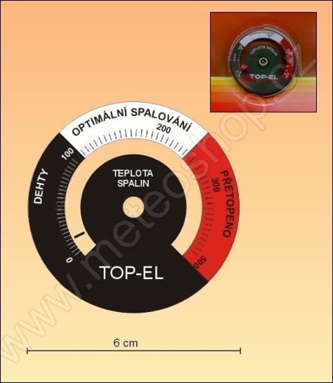 Teploměr pro měření kouřových plynů