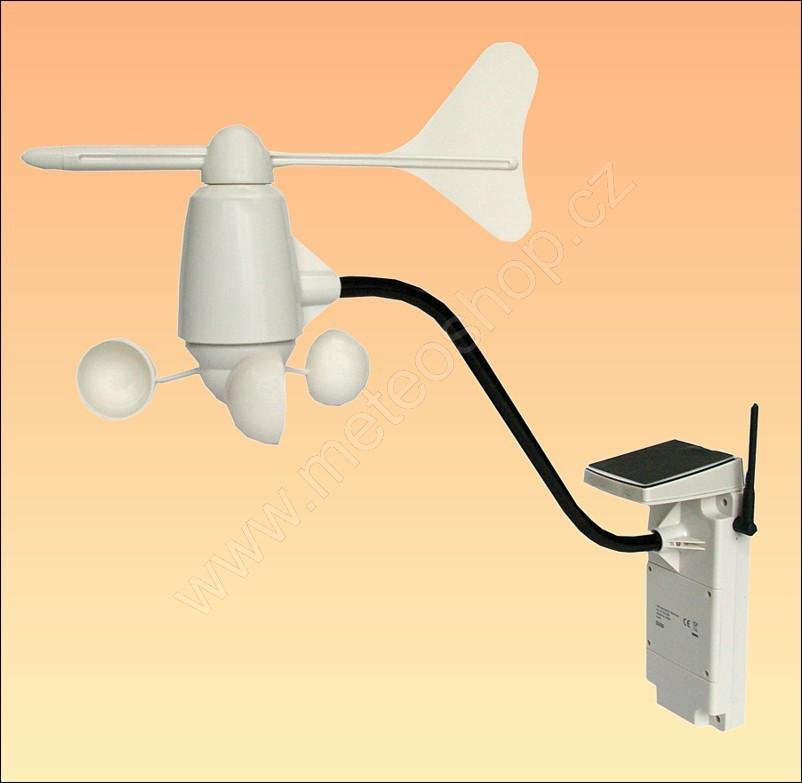 Měřič rychlosti a směru větru miskový se solárním panelem - TS808