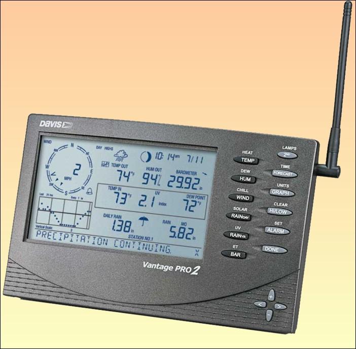 Meteostanice Davis Vantage Pro 2 - bezdrátová verze - 6152