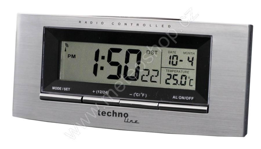 Digitální budík s vnitřní teplotou, hodiny řízené DCF signálem - model WT 182