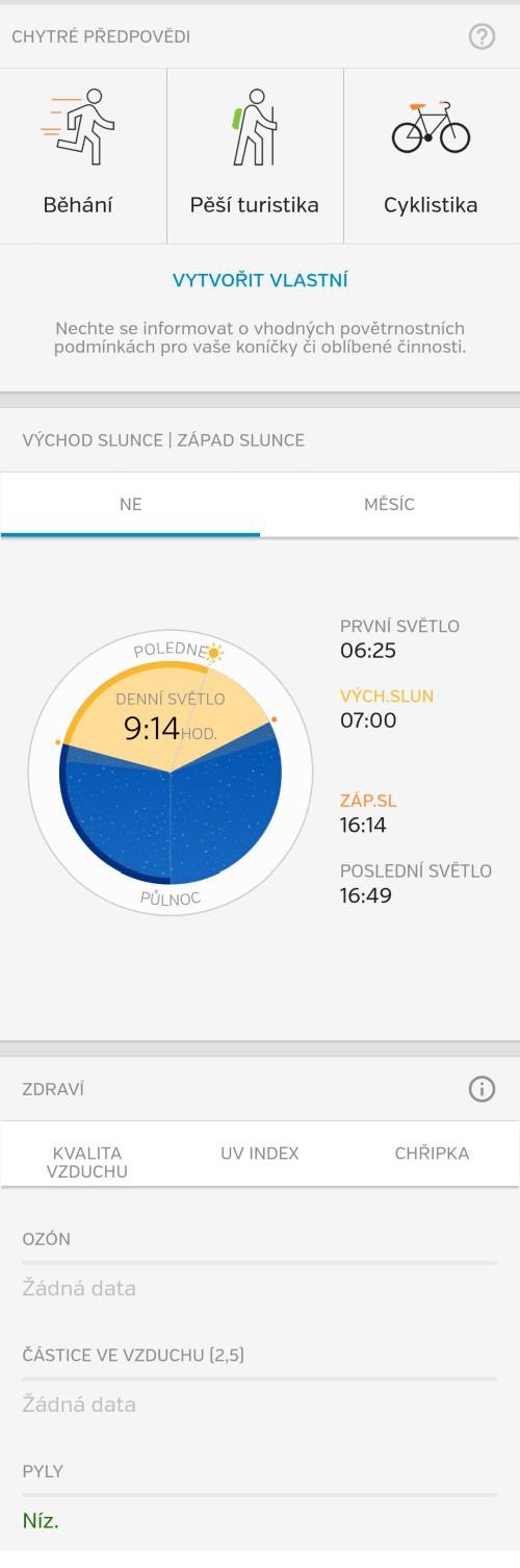 Garni 1055 - mobilní aplikace Weather Underground Forecast pro Android